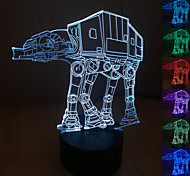 Visual 3D Robot Model Mood Atmosphere LED Decoration USB Table Lamp Colorful Gift Night Light