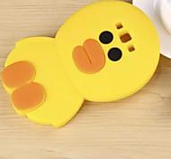 pequeño pato amarillo material de silicona verde caja del teléfono táctil lindo para la galaxia a5 / 7/8