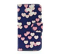 coeur coloré PU portefeuille en cuir cas de corps entier pour iPod Touch 5/6