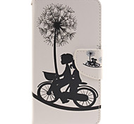 For LG Case Card Holder / Wallet / with Stand / Flip Case Full Body Case Dandelion Hard PU Leather LG