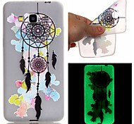 New Campanula Pattern TPU Material Luminous Phone Case for Galaxy G530/G360/J3/J1 Ace/I9060