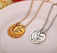 New Arrival Moon Sun Love You Pendant Necklace