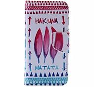 matata Hakuna cuero del teléfono celular patrón para el iphone 6 / 6s