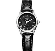 Women's Casual Genuine Leather Roman Numer Display Wrist Watches