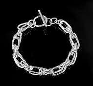 Hot Noble Exaggeration 925 Silver Plated Party Chain & Link Bracelets For Woman&Lady