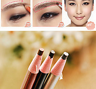 Makeup Cosmetic Eye Liner Eyebrow Pencil Brush Tool Light Brown Black Grey