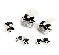 10pcs  Black Bow Nail Jewelry
