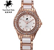 Ladies' fashionable crystal stone really Diamond Watch