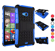 Для Кейс для Nokia Защита от удара / со стендом Кейс для Задняя крышка Кейс для Армированный Твердый PC NokiaNokia Lumia 950 / Nokia