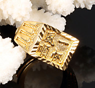 Lucky Smooth Men 24 K Gold Ring
