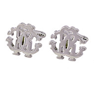 Jewelry Brass Material, Monogram Design Cufflinks