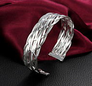 "Fashion Noble DIY 925 Sterling Silver ""Mesh""Bangles Party Daily Bangles For Woman&Lady"