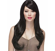 High Quality Natural Color # 1B  Long Syntheic Wave Wig