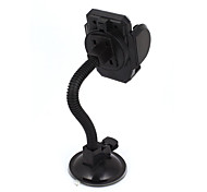Black Suction Base Flexible Neck Windshield Mount Holder for Cell Phone GPS