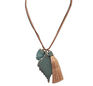 European Style Fashion Retro Leaf Owl Necklace