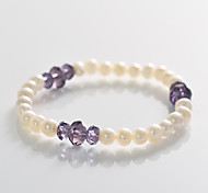 Fashion Pear  Crystal  Interval  Strand  Bracelet
