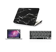 "3 in 1  Cool Black Marble  Cover Case+ Keyboard Cover+ Screen Protector  for Macbook Pro 13""/15"""