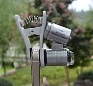 alta calidad creativa a prueba de agua 60 veces microscopio teléfono móvil y magnificador de pantalla / tasación de joyas / Las luces LED