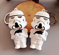 Mini Stormtrooper Action Heroes Toy Keychain LED Flashlight with Sound