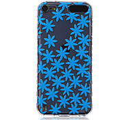 LOGROTATE®Anti-skidding Design Blue Flowers Pattern TPU Soft Case for iPod Touch 5/6