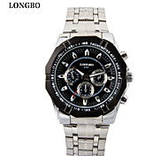 LONGBO Casual sports mens watch 3 dial decoration quartz mens watch waterproof commercial male watch free shippin Wrist Watch Cool Watch Unique Watch