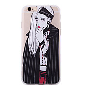 New Style Personality Girl Silk Pattern Back Cover for iPhone 6 Plus/iPhone 6S Plus(Assorted Colors)