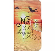 Sunrise Painted PU Phone Case for Wiko Lenny 2
