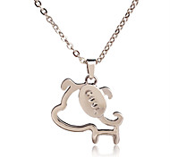 Hot Sale Cute Cool Dog Charming Gold Plated Pendant Necklace Special Gift For Friend