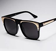 Sunglasses Men / Women / Unisex's Retro/Vintage / Modern / Fashion Square Black / White / Gold / Blue Sunglasses Full-Rim