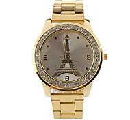 L.WEST Men's Stainless Steel The Eiffel Tower Quartz Watch Wrist Watch Cool Watch Unique Watch
