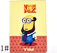3D Yellow God Steal Dads Cartoon People Pattern PU Leather Full Body Case for iPad Mini 4(Various Designs)