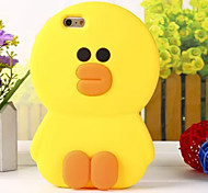 The New Three-Dimensional Super Meng Duck  Green Silicone Phone Case for iPhone 5 /5S