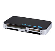 pcc-10 USB 3.0 Multi-Functional Card Reader w/ SD / MS / M2 / XD / TF / CF Slot - Black