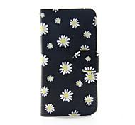 fleur jaune PU portefeuille en cuir cas de corps entier pour iPod Touch 5/6