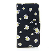 flor amarela pu carteira de couro caso de corpo inteiro para o iPod Touch 5/6