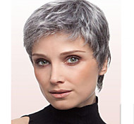 Women Grey Color Fashional Lady Straight Short Synthetic Hair Wigs