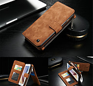 CaseMe Retro Wallet Case Leather Cover Multi-functional Cards Holder Wallet Case For Samsung Galaxy S6 Edge Plus