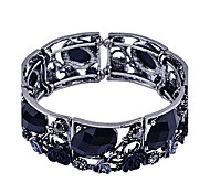 Fashion Crystal  Oval Flower Shape Cuff Bracelet Christmas Gifts