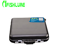 Afishlure Fishing Tackle Boxes Lure Box Waterproof 2 Trays 12 * 10 * 3.4 Hard Plastic Double Open Lure Boxes