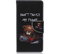 Chainsaw Bear Painted PU Phone Case for Sony Xperia Z5