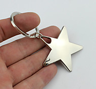 Smiling Five-pointed Star Style Keychain with Soft Plastic Material