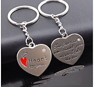 Korea Creative Heart-shaped Pendant Couple Keychain Creative Advertising and Promotional Activities of Small Gifts
