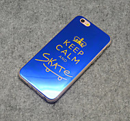 Stylish Keep Calm and Skate On Reflective Blu-ray Soft TPU Case Cover for iphone 6s Plus/iphone 6 Plus(Blue & Pink)