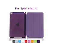 Ultra Slim Tri-Fold PU Leather with Crystal Hard Back Smart Stand Case Cover  for iPad mini 4 (Assorted Colors)