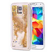 Para Samsung Galaxy Note Liquido Flutuante Capinha Capa Traseira Capinha Brilho com Glitter PC Samsung Note 5 / Note 4 / Note 3