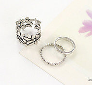 Personality Leaves Ring(Set of 3)