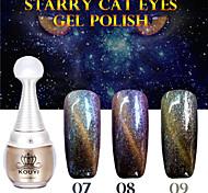 1pcs kouyi stellato occhi di gatto del gel di colore 12colors 12ml di lunga durata nail polish 7-9