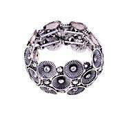 Korean  Fashion  Crystal Flower Elastic Force Bracelet