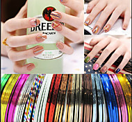 1set Foreign Trade Sales Nail Diy Tools Gold And Silver Line/TakeBack Glue Nail Painting Line 38 Color Suits