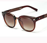 Sunglasses Women's Retro/Vintage / Modern / Fashion Round Black / White / Brown / Matte Black Sunglasses Full-Rim